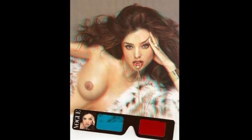 Miranda Kerr, rostro de la portada de Vogue Italia en 3D
