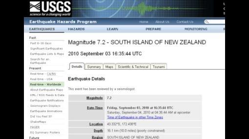 La tierra no para de temblar: Nueva Zelanda sufrió un terremoto de 7,2 grados