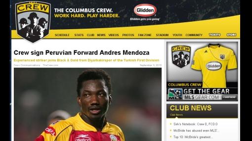 El 'Cóndor' alza vuelo: Mendoza podría debutar mañana con el Columbus Crew en la MLS