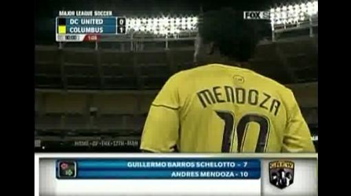 Andrés Mendoza debutó con triunfo en el Columbus Crew