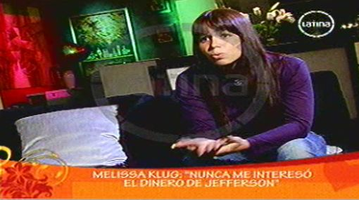 Melissa Klug reveló que nunca consiguió que Abel Lobatón cumpla con una pensión para sus hijas