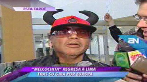 'Melcochita' regresó al Perú y espera que Monserrat le presente a su hija