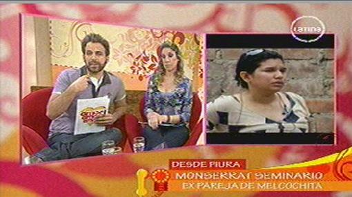 Ex pareja de 'Melcochita' le reclamó a 'Peluchín' por hablar de sus hijas