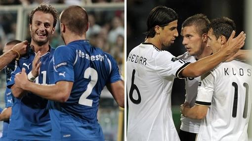 Italia y Alemania avanzan con goleadas hacia la Eurocopa 2012