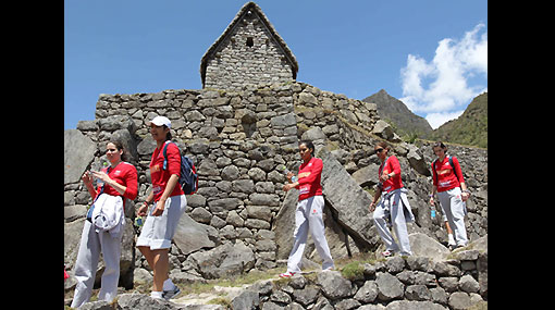 FOTOS: la selección de vóley se recargó de energía en Machu Picchu