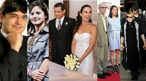 """A lo """"40 y 20"""": la diferencia de edades no es obstáculo para el amor en la farándula"""