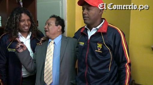 'Melcochita' se encontró con las glorias del futbol ecuatoriano