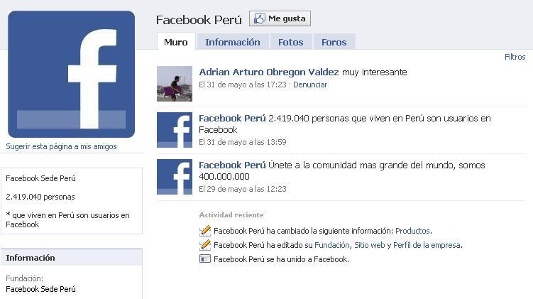 Peruanos en Facebook: más de un millón se inscribió en la red social en últimos seis meses
