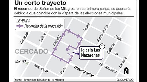 Suspenderán rutas del Metropolitano en el Cercado durante procesiones del Señor de los Milagros