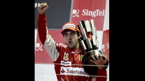 F1: Fernando Alonso apretó el acelerador y ganó el GP de Singapur