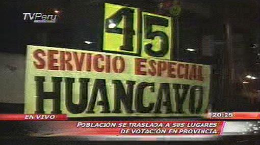 Pasajes a Huancayo, Jauja y La Oroya se incrementaron hasta en 100% en terminal de Yerbateros
