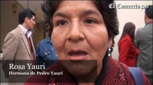 Hermana de Pedro Yauri se mostró satisfecha con condena a Montesinos, Hermosa y Martin Rivas