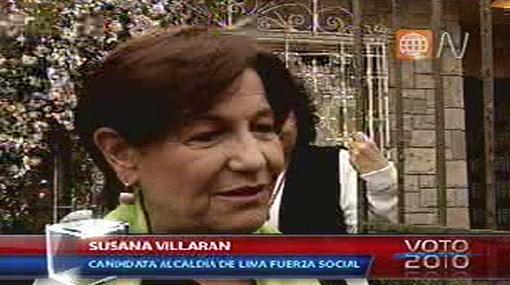 Susana Villarán quiere retomar con Lourdes Flores una relación afectada por la campaña