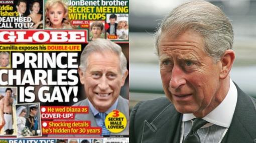 """""""El príncipe Carlos es gay"""", titula la revista """"Globe"""" en su portada"""