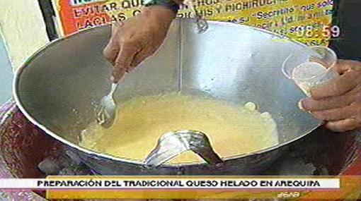 El queso helado: un tradicional postre arequipeño