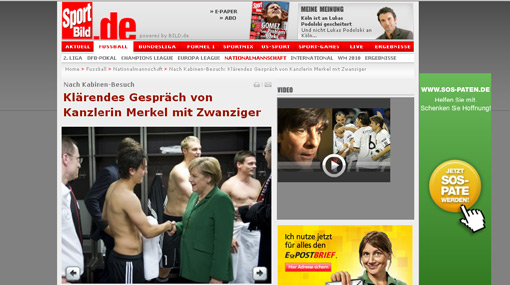 La canciller de Alemania se metió en problemas por entrar al vestidor de su selección