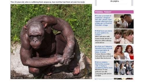 Chimpancé con calvicie causa sensación en zoológico de la India