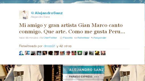"""Alejandro Sanz tras su concierto en el Monumental: """"Gracias, Perú, eres demasiado"""""""
