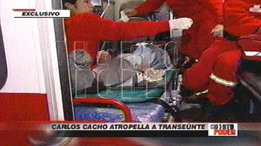 Hombre atropellado por Carlos Cacho tiene el tobillo destrozado y tres costillas rotas