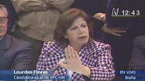 Lourdes Flores aceptó su derrota electoral a la Alcaldía de Lima y reconoció triunfo de Susana Villarán