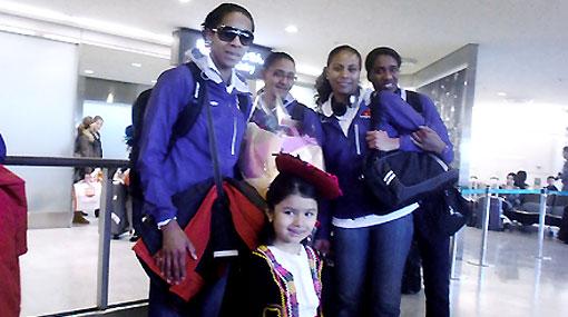 Leyla Chihuán felicitó a los campeones mundiales de tabla desde Tokio