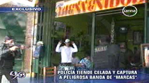 Banda de 'marcas' fue capturada tras una feroz balacera en el Callao