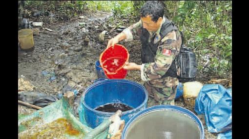 Narcos del Huallaga utilizan nuevo químico para producir drogas