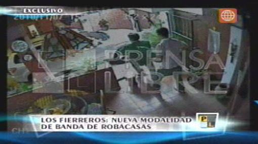 Nueva modalidad de robo: asaltantes fueron grabados por cámaras de seguridad