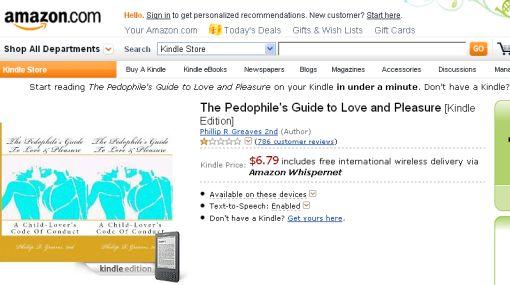 Polémica por e-book: Amazon se niega a retirar guía electrónica para pedófilos