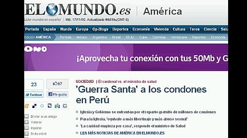 Polémica por repartición de condones en el Perú dio que hablar en España