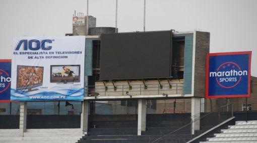 Moderna pantalla electrónica fue instalada en Matute