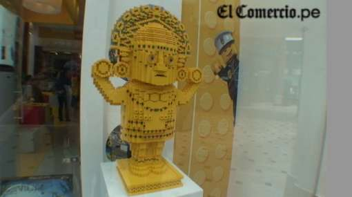 Primera tienda de Lego en Perú tiene como emblema un tumi armable con bloques