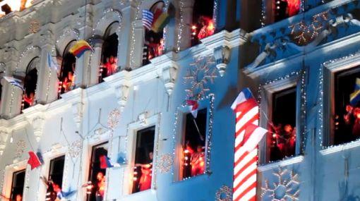 El espíritu navideño se apoderó de la Plaza San Martín
