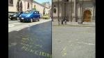 Policía detuvo a sujeto que realizó pintas en el Centro Histórico de Arequipa - Noticias de alfredo galdos