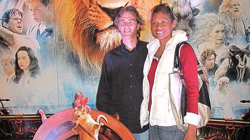 Conocidos artistas de la farándula local acudieron al avant premier de Narnia