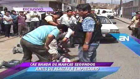 'Marcas' fueron capturados haciendo seguimiento a un empresario en el Callao