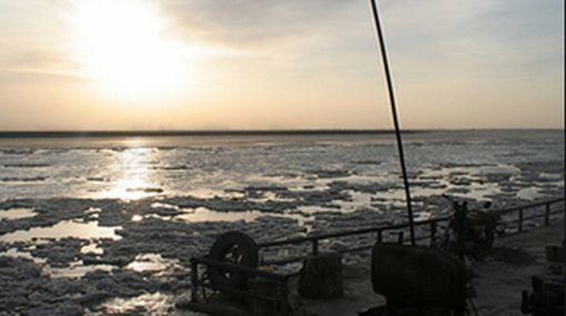 Alerta en China por placa de hielo de 480 kilómetros en el río Amarillo