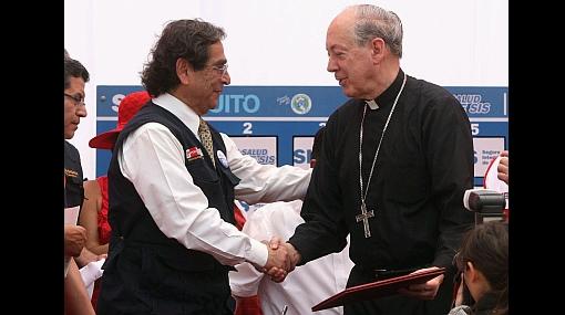 Ministro Ugarte y cardenal Cipriani firmaron acuerdo en Manchay