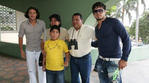 Claudio Pizarro, Juan Vargas y Aldo Corzo pasaron la tarde en el hipódromo de Monterrico