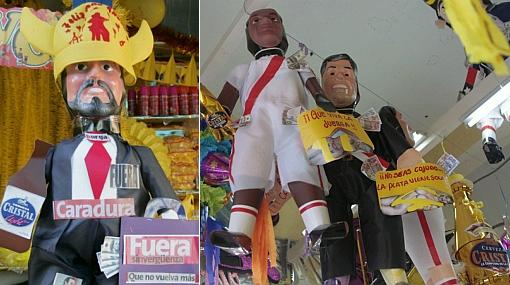 Ni para quemarlo lo quieren: muñeco de Burga es el menos vendido en el Mercado Central