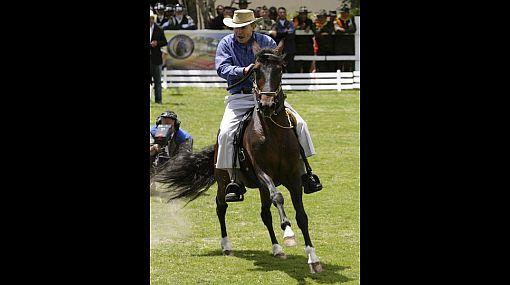 El ex presidente Álvaro Uribe fue pateado por uno de sus caballos
