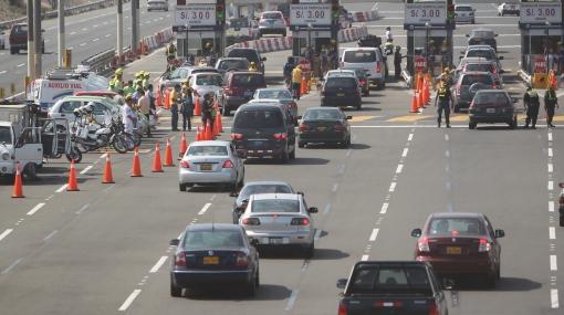 Tome precauciones: mañana cambia el sentido del tránsito en la Panamericana Sur