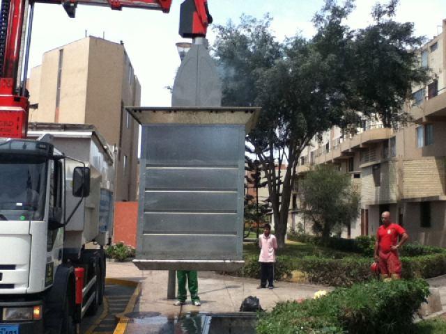 Vecinos de San Borja reportaron un incendio en un contenedor de basura