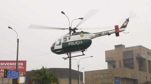 El Callao patrullará sus calles con helicópteros