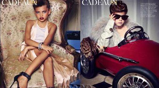 """Polémica: """"Vogue"""" publica fotos de niñas en actitudes de adultas"""