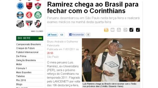 'Cachito' Ramírez ya está en Sao Paulo para firmar por Corinthians