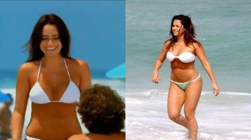 Modelo de sandalias Havaianas ya sale con ombligo en TV