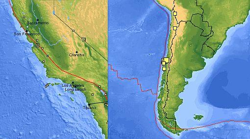 Terremoto del 2010 en Chile generó temblores en California