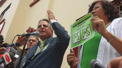 """Rodríguez Cuadros confía remontar encuestas porque """"recién he iniciado la campaña"""""""