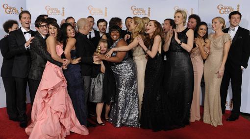 """""""Glee"""" fue la serie que más ganó en los Globos de Oro"""